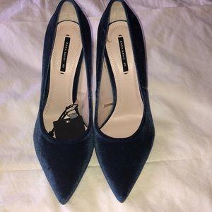 Zara Velvet Heels